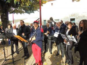 Les musiciens sont prêts pour la cérémonie-Gérard,François et Amélie